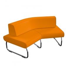 45 laipsniu kampu lenkta modulinė sofa su atlošu Nr.2 BM 834045