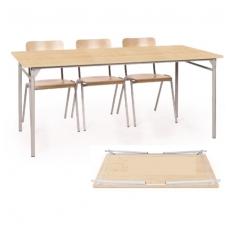 6 vietis sudedamas stalas
