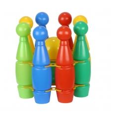 """8 kėglių rinkinys krepšelyje """"Mini"""""""