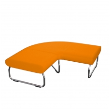 90 laipsniu kampu lenkta modulinė sofa be atlošo Nr.1 BM 834052
