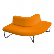 90 laipsniu kampu lenkta modulinė sofa su atlošu Nr.1 BM 834059