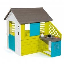 """Didelis vaikiškas plastikinis namelis su virtuve """"Pretty"""" 810711"""
