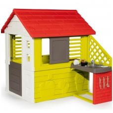 Didelis vaikiškas plastikinis namelis su virtuve 810713