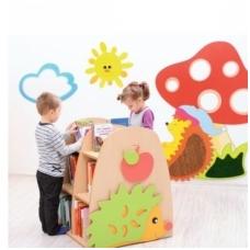 Dvipusė vaikiška bibliotekos lentyna