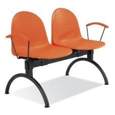 Dvivietis suolas, oranžinės spalvos