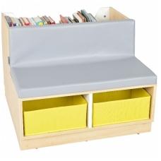 Edukacinė lentyna su suoliuku bei čiužiniu vaikiškai bibliotekai 092102