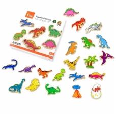 "Mediniai magnetukai ""Dinozaurai - 20 vnt."""