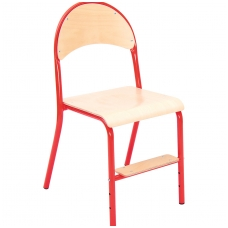 Mokyklinė kėdė su reguliuojamo aukščio pakoju