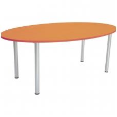 Ovalus stalas su metalinėm kojom