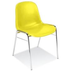 Plastikinė kėdė, geltona