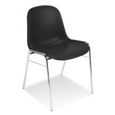 Plastikinė kėdė, juoda