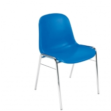 Plastikinė kėdė, mėlyna