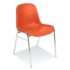 Plastikinė kėdė, oranžinė