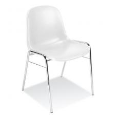 Plastikinė kėdė, balta