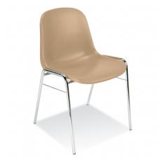 Plastikinė kėdė, ruda