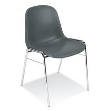 Plastikinė kėdė, tamsiai pilka