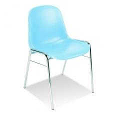 Plastikinė kėdė, žydra