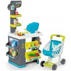 Plastikinė vaikiška parduotuvė su elektronine kasa su 34 elementais. NS 350212