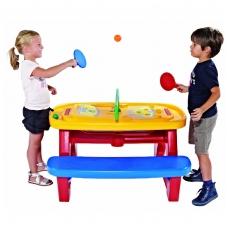 Plastikinis, edukacinis vaikiškas žaidimų stalas su atributais. 30700