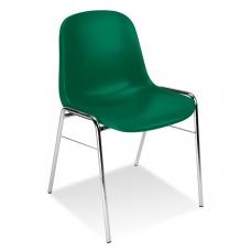 PLatikinė kėdė, tamsiai žalia