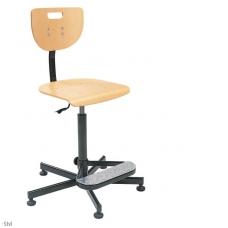 Reguliuojamo aukščio laboratorinė kėdė su atlošu