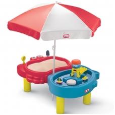 Smėlio- vandens stalas su skėčiu ir atributais 401L