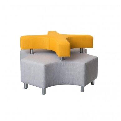 "Sofa ""X"" - pilka / geltona, 7010116"
