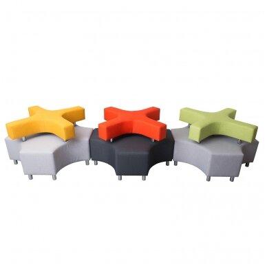"""Sofa """"X"""" - pilka / oranžinė, 7010117 2"""