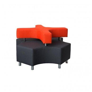 """Sofa """"X"""" - pilka / oranžinė, 7010117"""