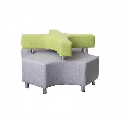 """Sofa """"X"""" - pilka / šv. žalia, 7010115"""
