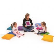 Spalvota minkšta pagalvė iš ECO odos 464044+K