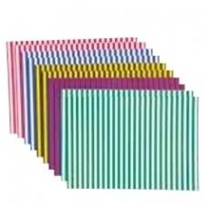 Spalvoto popieriaus rinkinys su linijom 10 vnt. BM 300090