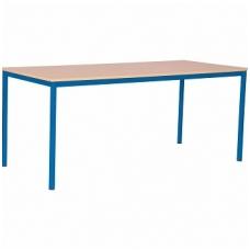 Stalas su metaliniu karkasu 120x80, mėlynas F041515M