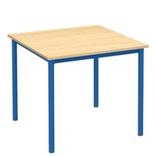 Stalas su metaliniu karkasu 80x80, mėlynas F041514M
