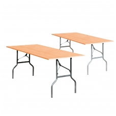Sulankstomas stalas, juodas