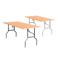 Sulankstomas stalas, sidabrinis