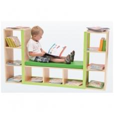 Vaikiška bibliotekos lentyna su čiužiniu 6512355EX
