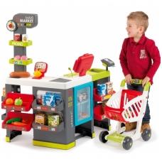 """Vaikiška parduotuvė """"Maxi Market """" su 50 elementų + apsipirkimo vežimėlis NS 350215"""