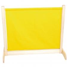 Vaikiška širma, geltonos spalvos.