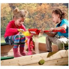 Vaikiška smėlio dėžė su tentu bei lentyna  žaislams susidėti. NS A031.005.00