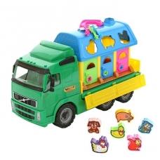Vaikiškas automobilis su žvėreliais bei nameliais NS 1442