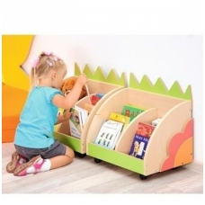 Vaikiškas knygų vežimėlis