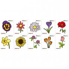 """Vaikiškas lipdukas """"Gėlės"""", 10 elementų  BM 135014"""