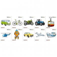 """Vaikiškas lipdukas """"Transportas"""", 10 elementų BM 135013"""