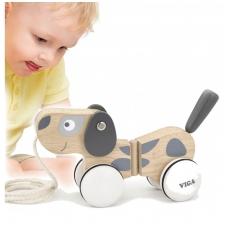 """Vaikiškas medinis trauktukas """"Šuniukas"""", NS 51614"""