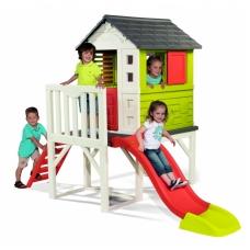 Vaikiškas plastikinis namelis ant polių