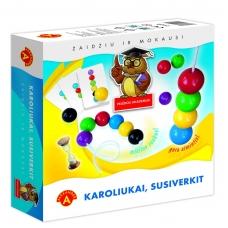 """Vaikiškas stalo žaidimas, lietuvių kalba """"Karoliukai"""" 5906018007633"""