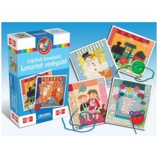 """Vaikiškas stalo žaidimas, lietuvių kalba varstymui """"Geležinė kumelaitė, kanapinė uodegaitė"""" 5900221052282"""