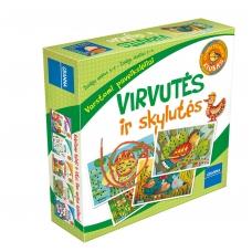 """Vaikiškas stalo žaidimas, lietuvių kalba """"Virvutės ir skylutės"""" 5900221052527"""