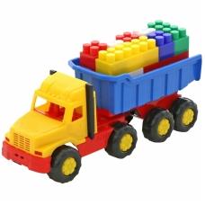 Vaikiškas sunkvežimis su priekaba bei kaladėlėmis NS 4239